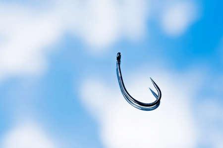 fishinghook: Barbless Fishing hook Stock Photo