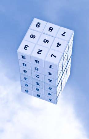 reckon: Sudoku game cube Stock Photo