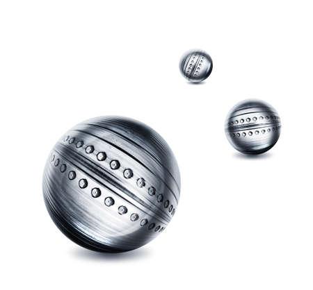 three object: 3 steel balls illustration Stock Photo
