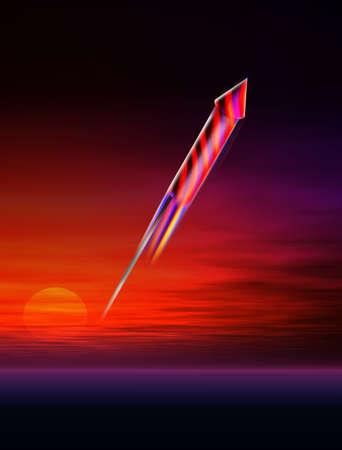 guy fawkes night: Rocket firework blast Stock Photo