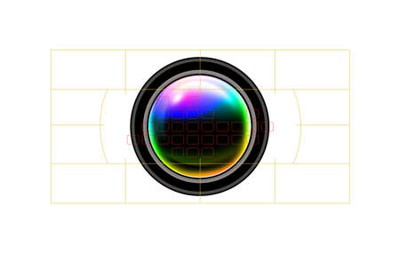 focal: Camera focal points Stock Photo