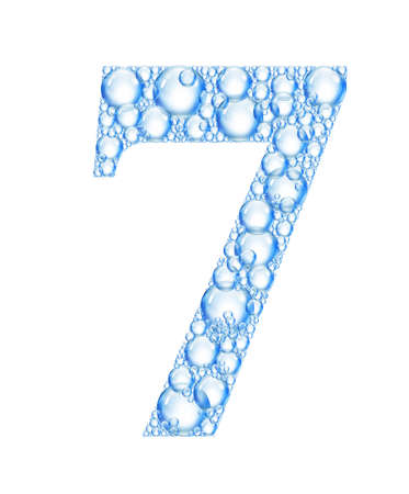 number 7: bubble number 7 Stock Photo