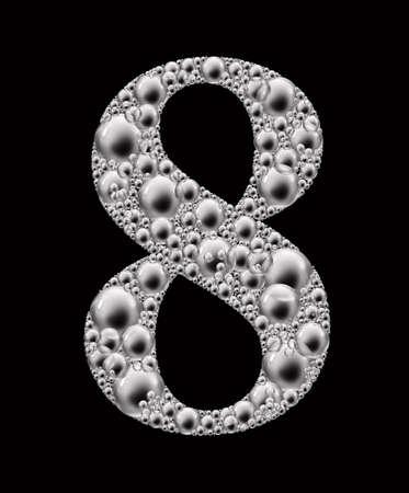 figure of eight: figure eight bubble font Stock Photo