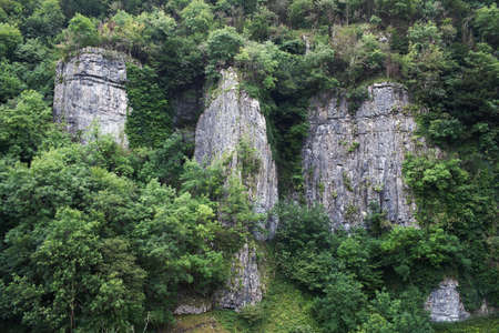 cheddar: Cheddar gorge cliffs Stock Photo