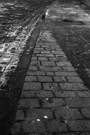 cobbled: Cobbled street Stock Photo