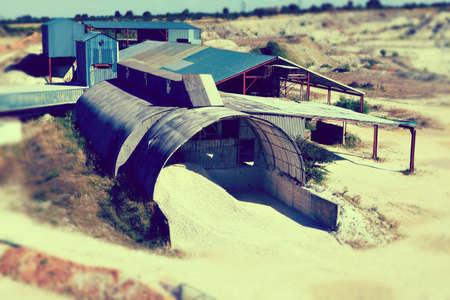 gravel pit: gravel pit factory