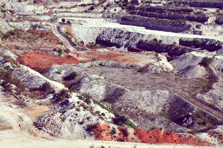 gravel pit: gravel pit quarry