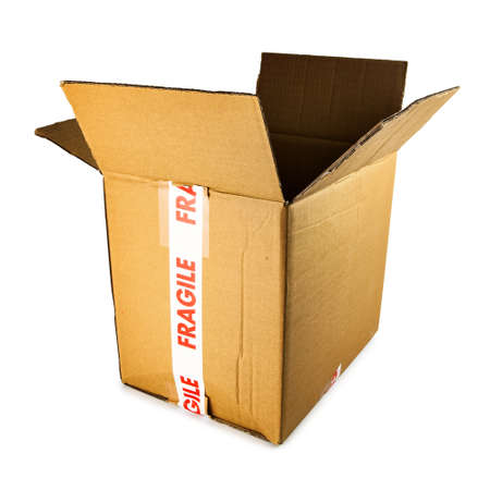 merchandize: Cardboard box Stock Photo