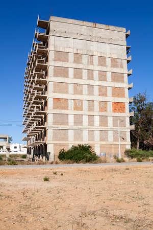 concrete commercial block: Unfinished development