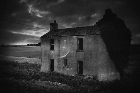abandoned house: remote abandoned house