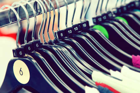 hangers: Clothes sizes on hangers