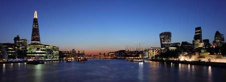 panoramic business: Panoramic London at night Editorial
