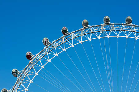london eye: Big wheel blue sky