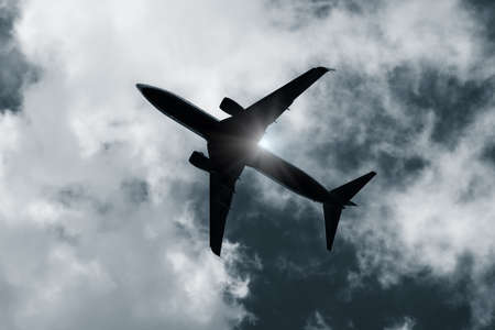 directly below: Aircraft silhouette directly above