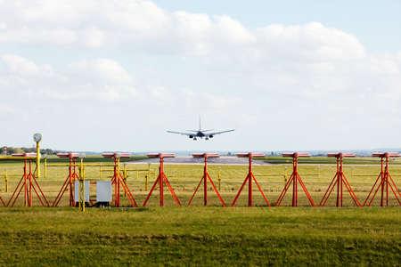 plane landing: Plane landing on runway
