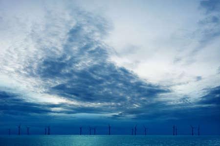 wind farm: Wind farm big blue sky