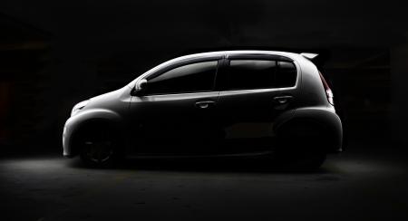 vehicle line on black background