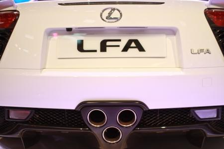 lfa: KUALA LUMPUR, MALAYSIA - NOV 15  Lexus LFA displayed at Lumpur International Motorshow  KLIMS  on November 15, 2013 in Kuala Lumpur Malaysia  Editorial