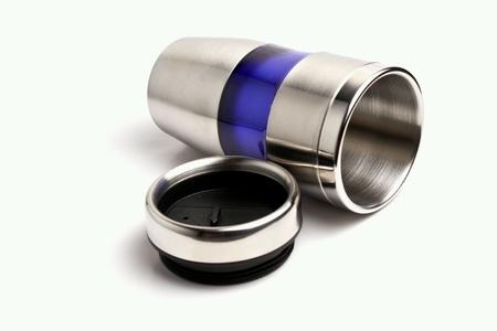 steel: Steel mug isolated