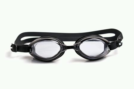aqua: Swim goggles isolated Stock Photo