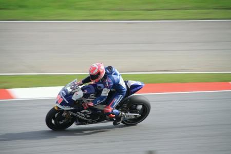 superbike: Superbike leening at corner