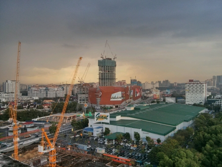 construction: Areal view of Paradigm Mall Malaysia Stock Photo