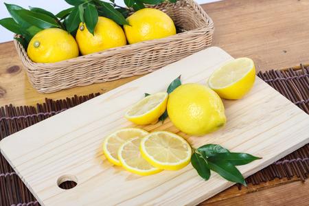 clean cut: lemon cut in clean environment