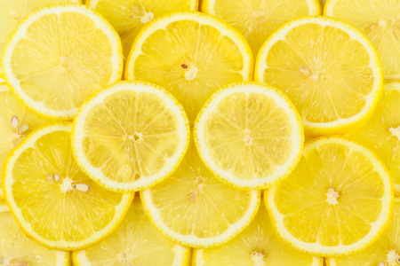 lemon pieces pile together Standard-Bild