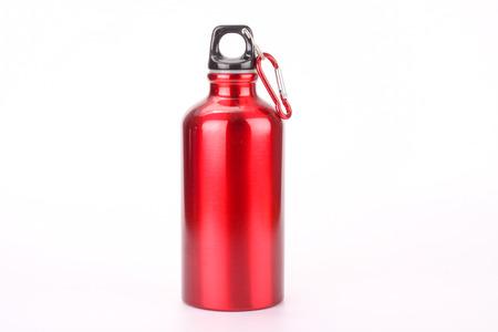 steel bottle isolated on white background Stockfoto