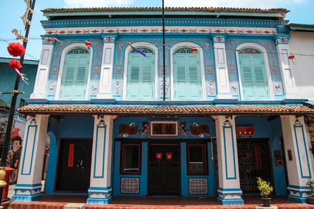 terengganu: KUALA TERENGGANU 9 Aug. - The unique and old architecture of chinese village. Located at Chinatown in Kuala Terengganu, Malaysia.