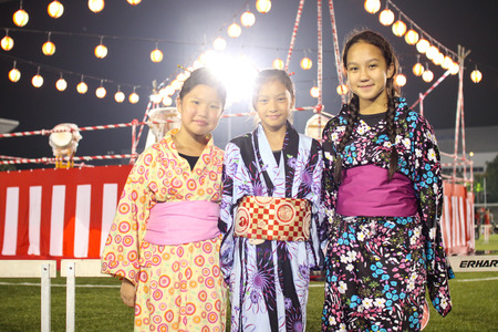 SHAH ALAM, MALAYSIA - SEPTEMBER 5: Bon-Odori Festival in Shah Alah,  on September 5, 2015. Participants in Bon Odori festival, held annually to celebrate the unique style of dancing performance from japan to Malaysia. Editorial