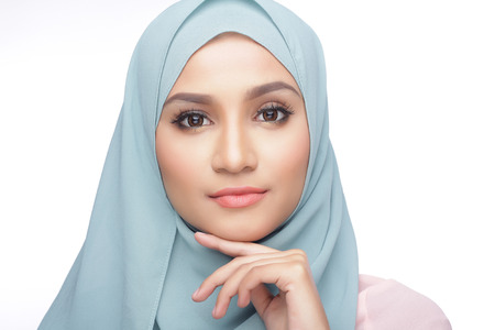 portrait of beautiful musliman asian woman Stock Photo