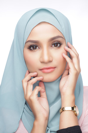 portrait of beautiful musliman asian woman Banque d'images