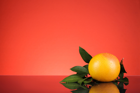 prosper: orange shot with red background for chinese new year theme