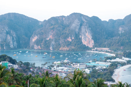 phi: phi phi island also called koh phi phi shot from phi phi viewpoint at morning