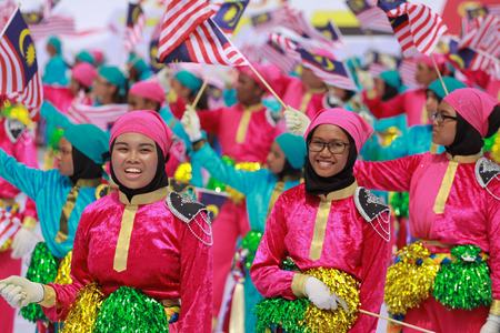 merdeka: KUALA LUMPUR, MALAYSIA- 31ST AUGUST 2016 : Merdeka day celebration is held in commemoration of Malaysias Independence Day at Dataran Merdeka; one of the most colorful events celebrated annually.