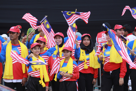 KUALA LUMPUR, MALAYSIA- 31ST AUGUST 2016 : Merdeka day celebration is held in commemoration of Malaysia's Independence Day at Dataran Merdeka; one of the most colorful events celebrated annually.