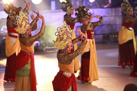 merdeka: Kuala lumpur 25 September 2016 , Citra Warna Malaysia was held at Dataran Merdeka. Performers doing their ceograph dance move on the stage.