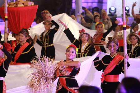 slow motion: Kuala lumpur 25 September 2016 , Citra Warna Malaysia was held at Dataran Merdeka. A Parade by the performers. Editorial