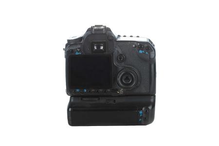 back of a modern DSLR camera