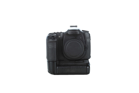 Digital slr isolated on a white background Stock Photo