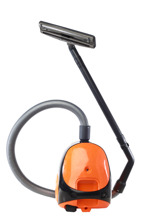 sweeper: A small home vacuum isolated with white background