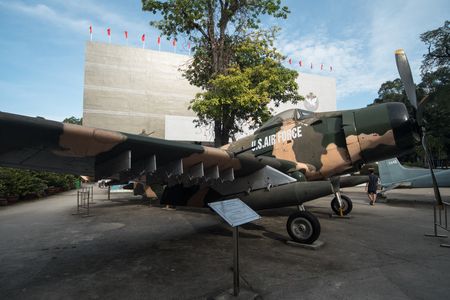 Ho Chi Minh City, Vietnam - 30 December 2017. The War Remnants Museum is a war museum at 28 Vo Van Tan, in District 3, Ho Chi Minh City, Vietnam. It contains exhibits relating to the Vietnam War and the first Indochina War involving the French colonialist Stock Photo - 93828074
