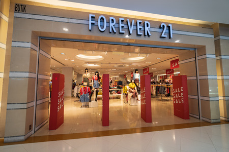 SUBANG JAYA, SELANGOR - 25 July 2018. FOREVER 21 inside Sunway Pyramid Mall at Subang Jaya.