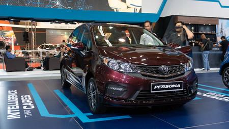 kuala lumpur, malaysia - 16 april 2019. proton new body kit proton persona in kuala lumpur motor show