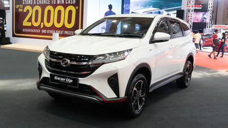 kuala lumpur, malaysia - 16 april 2019. perodua aruz as new perodua model in kuala lumpur motor show. Editorial