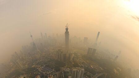kuala lumpur city with haze attack Stock fotó