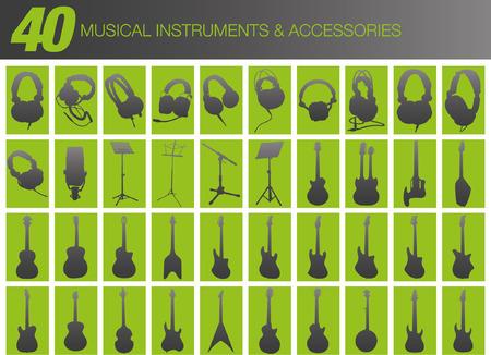 rock logo: 40 Instrumentos musicales y accesorios