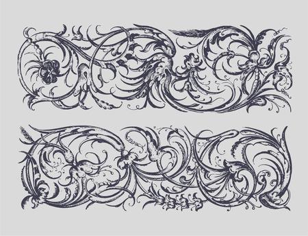 baroque border: Baroque Borders Illustration