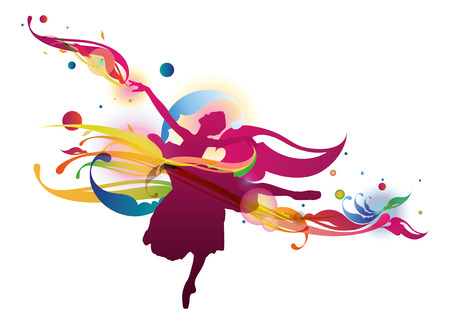 Flourish Ballerina Vector